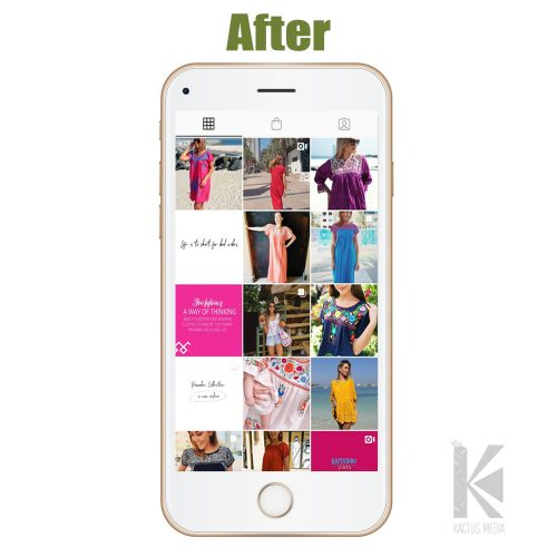 After social media management by kactus media
