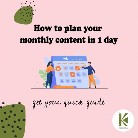 how to plan your monthly content in social media in just one day